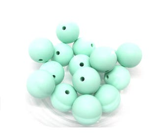 10 15mm - Mint Silicone beads