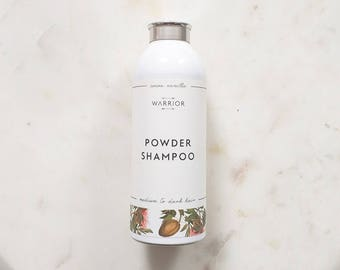 Powder Shampoo, Natural Dry Shampoo, Hair Powder,  Dry Shampoo for dark hair, Cocoa Vanilla Scent, No Poo