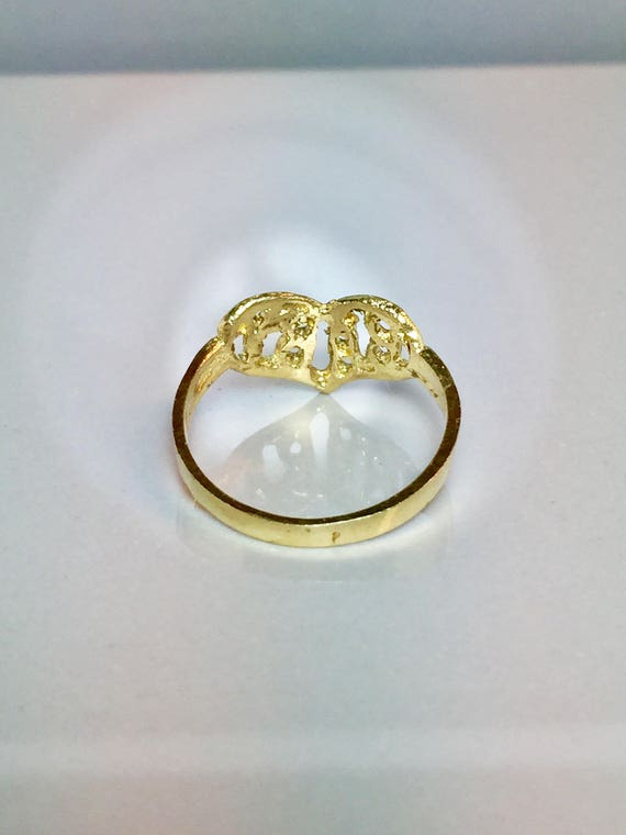 14k solid gold Baby rings Newborn Baby Ring Gold Infant