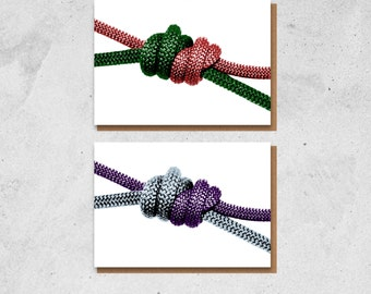 Double Fisherman's Knot Greetings Card