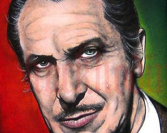 "Print 8x10"" - Vincent Price - Horror Classic Monsters Halloween"