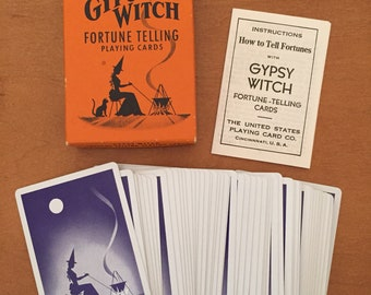Vintage Gypsy Witch Fortune Telling Predict the Future Playing Cards