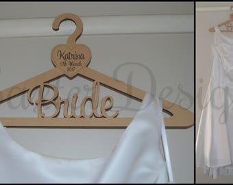 Wooden Wedding Coat Hanger Bride Maid of Honour Bridesmaid Mother Flower Girl
