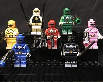 Mighty Morphin Power Rangers 7 pc minifigure set USA Fast!