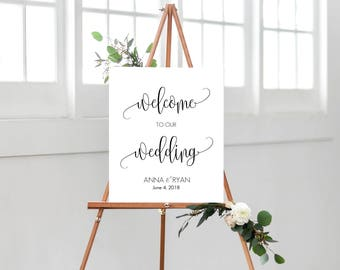 Large Welcome Sign, Wedding Welcome Sign, Printable Wedding Welcome Sign, Large Wedding Welcome Sign, Printable Wedding Sign, Welcome Sign