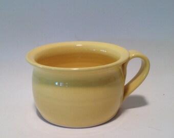 Yellow Soup Mug / Soup Bowl , Pottery Bowl , Pottery Mug , Ceramic Mug , Ceramic Bowl , Handmade Bowls , Hand Turned Mugs, Handmade Mugs