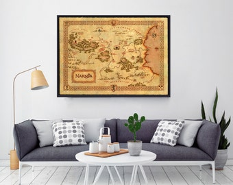 Chronicles Of Narnia, Narnia Map, Baby Shower Gift, Gift For Him, Gift For Her, For Boyfriend, Gift For Girlfriend, Narnia Poster, Nursery