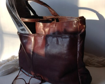 Vintage Latico Brown Leather Briefcase, Attaché, Satchel or Travel Bag | Men's or Women's | Made in Columbia