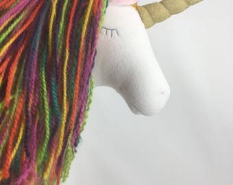 Rustic rainbow unicorn head