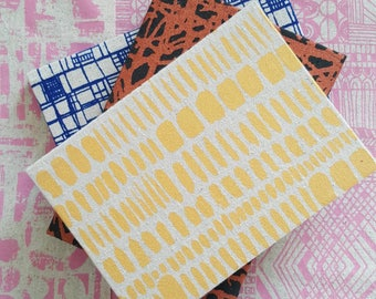 A5 sized Brushstrokes notebook in Gold sparkle by Lucie Summers