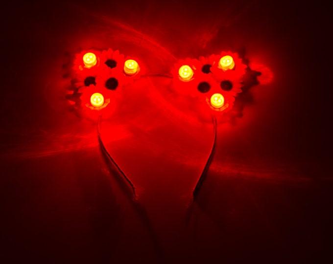 Customizable Red LED Cat Ear Headband