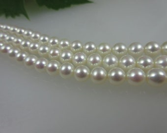 AAA-Grade Freshwater Pearl strand 6.5-7 mm white, 40 cm