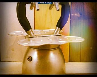 Nova Espress Export Moka pot 4 cups Italy 1950 / espresso maker / aluminum vintage coffee maker