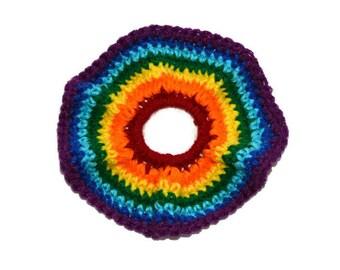 Rainbow Pride Hair Scrunchies, Rainbow scrunchie,  Hair Scrunchies, Crochet Hair Scrunchies, Hair Accessories,  Hair Ties, Scrunchie
