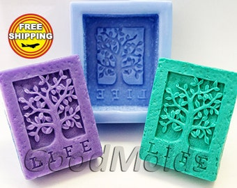 Life tree soap mold silicone molds mold for soap mold flora mold silicone mold free shipping