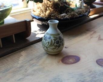 Vintage Matte Glaze Hand Painted Ceramic Pottery Vase