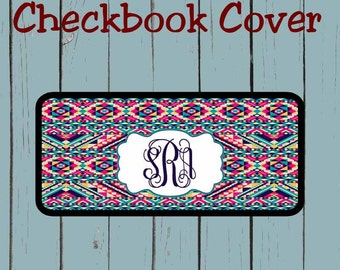 Checkbook Cover Aztec Tribal Pattern Design Personalized Checkbook cover
