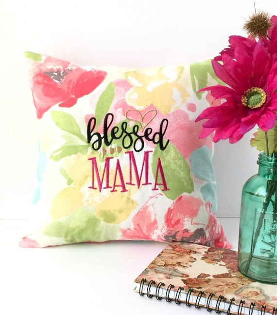 Blessed Mama Mother\'s Day Gift Pillow Pillows with