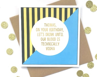 Funny Personalised Birthday Card, Funny Birthday Card, Funny 18th Birthday Card, Funny Personalised Card, Funny 21st birthday card
