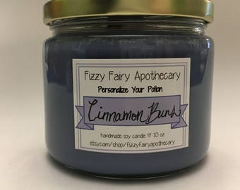 Personalize your Potion Candle- 10oz (Wood OR Cotton Wick!)