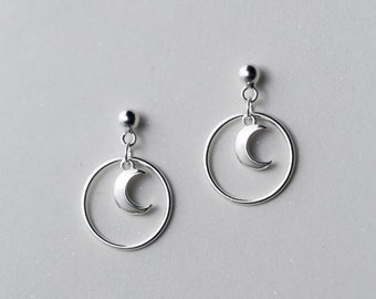 moon of the circle earring