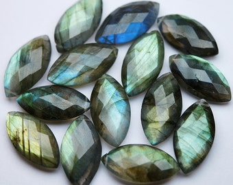5 Matched Pair,Natural Labradorite Faceted Marquise Shape,10 Piece of 10x20mm
