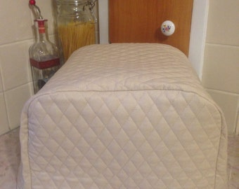 Khaki 4 Slice Toaster Cover Quilted Fabric Kitchen Small Appliance Cover Made to Order