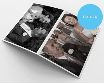 Wedding Thank you Card - Foiled - Thank you Card - Tent fold - Custom - Photo - Wedding - Birthday - Minimal