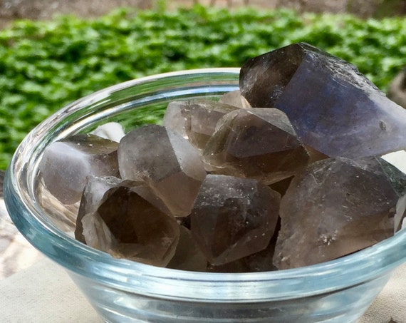 Smoky Quartz Points, Raw Smoky Quartz, Smoky Quartz Stones, Smoky Point Cluster, Root Chakra Crystal, Crystal Grid, Reiki