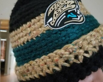 Jacksonville jaguars crochet hat.