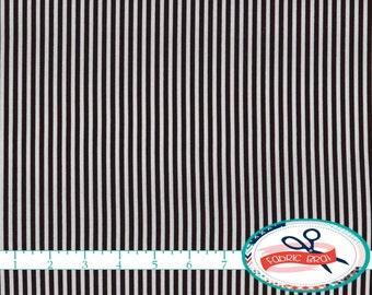 BLACK & WHITE STRIPE Fabric by the Yard, Fat Quarter Mini Stripe Fabric Geometric Fabric Quilting Fabric 100% Cotton Fabric Yardage w1-5
