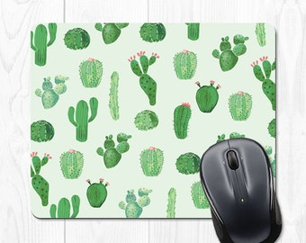Cactus Mouse Pad Mint Mousepad Mint Green Office Supplies Mousepad Office Desk Accessories Cubicle Accessories Cute Cubicle Decorations