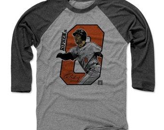Cal Ripken Jr. Shirt | Baltimore Baseball | Men's Raglan Baseball T Shirt | Cal Ripken Jr. Offset O