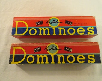 Two Boxes Of Halsam Dominoes