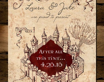 Harry Potter Marauder's Map Save the Date *Digital