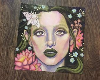 "8x8"" print- Goddess"