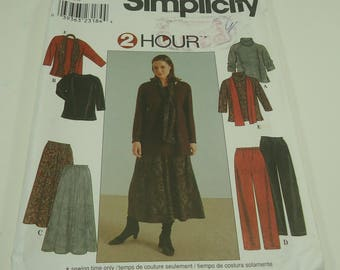 Simplicity Women's Top, Skirt, Pants And Scarf Pattern 8805 Size 18W - 24W  Two Hour