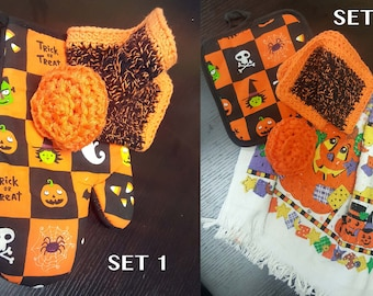 Halloween Gift, Gift, Gift Under 10, Halloween, Halloween Dishcloth