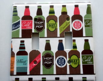 CRAFT BEER Print Double Nylon Light Switch Plate