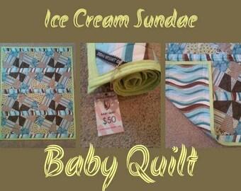 Ice Cream Sundae Baby Quilt