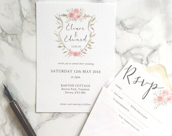 Elinor Wedding Invitation Suite
