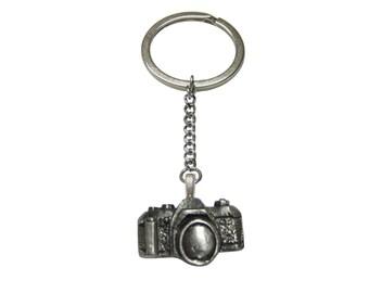 Textured Camera Pendant Keychain