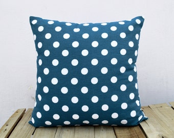 Chevron print, indigo pillow cover, cotton cushion cover, size available.