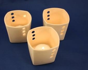Votive Candle holder, ceramic