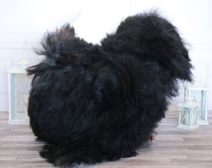 Icelandic Sheepskin | Real Sheepskin Rug | Black Sheepskin Rug | Fur Rug | Christmas Decorations #ISLA15