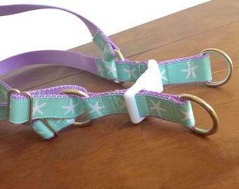 Dog Harness, Starfish Dog Harness, Nautical Dog Harness, Aqua Lavender Under the Sea,