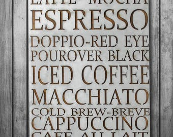 Coffee Sign, Coffee Decor, Wall Decor, Metal Sign, Coffee Bar Sign, Coffee Wall Decor, Metal Sign Vintage, Metal Sign, Latte Art, Zinc