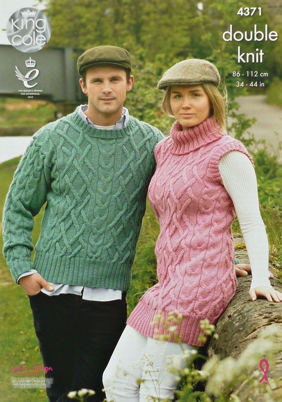 Womens Knitting Pattern K4371 Ladies/Mens Cable Jumper and Ladies ...
