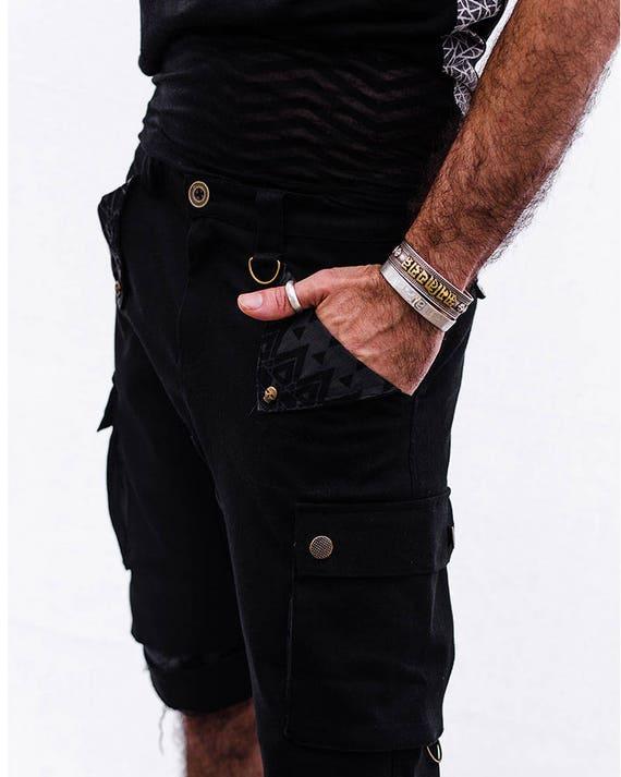 Boho Shorts Men Wear Shorts Shorts Shorts Men's Clothing Cotton Black Men Clothing Street Men's Urban Pants for Casual Pants Hipster g0qZxRTw