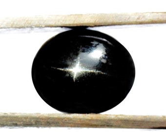 Black Star Diopside Cabochon Stone (11mm x 9mm x 6mm) 5.5cts - Oval Cabochon